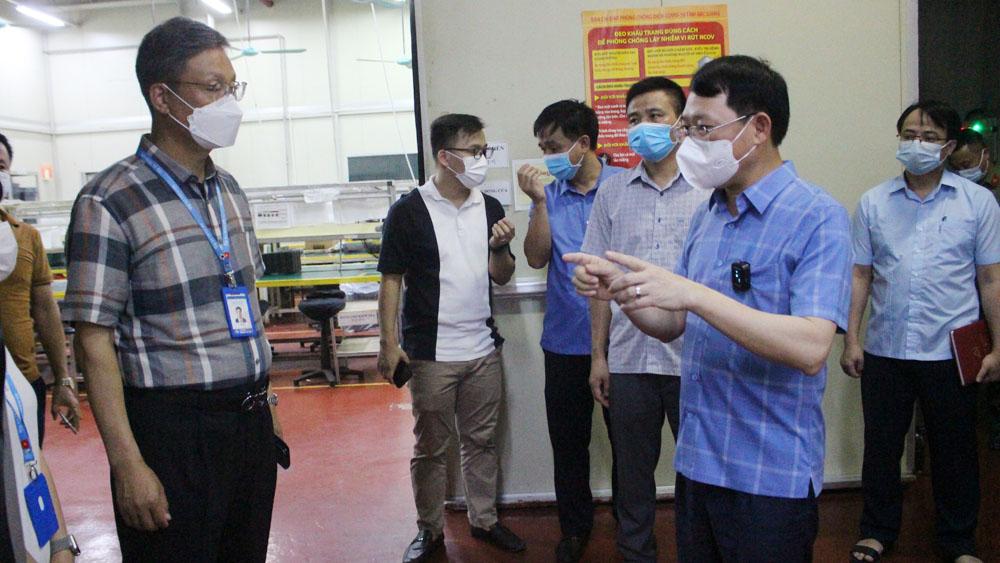Chủ tịch UBND tỉnh Lê Ánh Dương yêu cầu lập tổ phản ứng nhanh phòng, chống dịch tại các doanh nghiệp